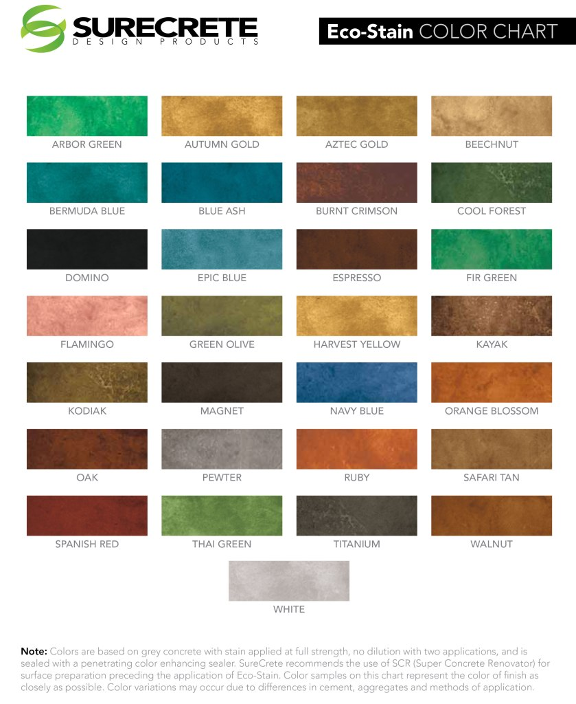 Eco-Stain-Color-Chart